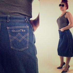 Vintage Oscar De La Renta Jean skirt 1980's